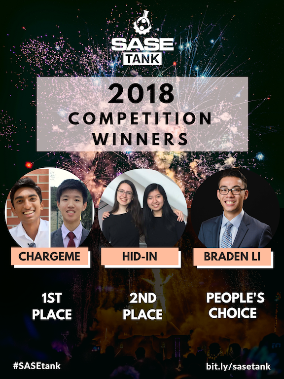 2018 SASEtank Competition Winners